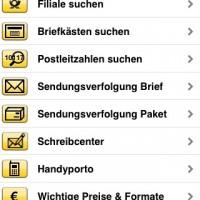 Post mobil: Homescreen
