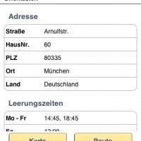 Post mobil: Briefkasten-Details