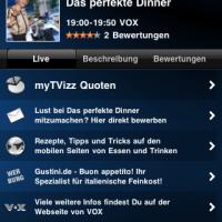 myTVizz - Ansicht einer Einzelsendung